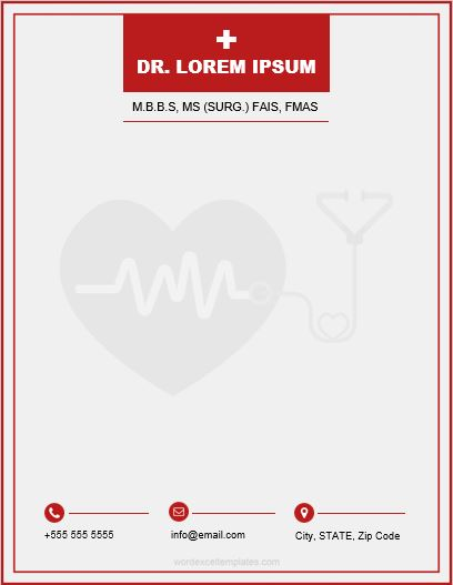 Doctor Letterhead Templates for MS Word Word  Excel Templates
