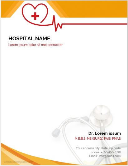 5 Best MS Word Letterhead Templates for Hospitals/Clinics Word