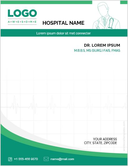 5 Best MS Word Letterhead Templates for Hospitals/Clinics Word - letterhead samples word
