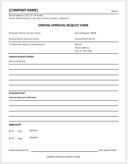 Expense Approval Request Forms MS Word Word  Excel Templates - disapproval letter