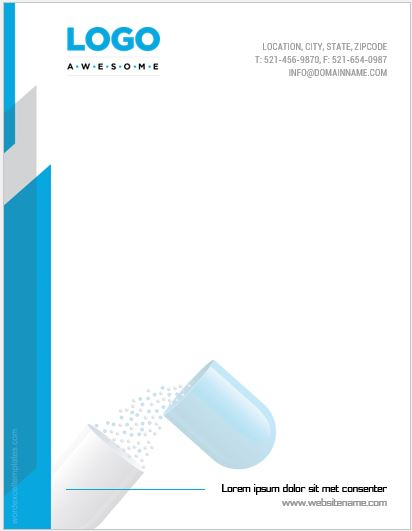 5 Best Pharmacy Letterhead Templates MS Word Word  Excel Templates - letter headed samples