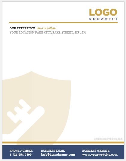 Free Cover Letter Templates » company letterhead template Free - company letterhead template