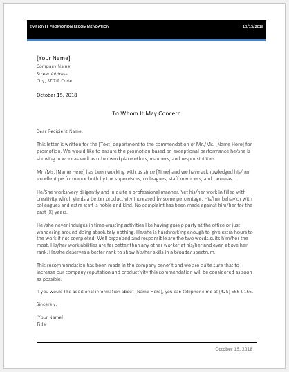 Tips to Write Employee Recommendation Letter with Sample Word