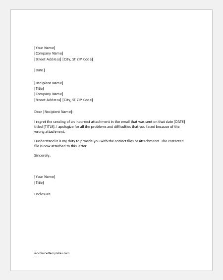 Apology Letters for Providing Wrong Information Word  Excel Templates