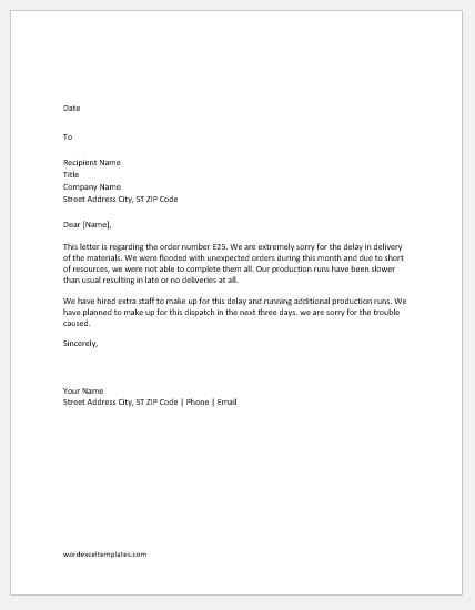 apology letter to customer for delay - Josemulinohouse - how to make an apology letter