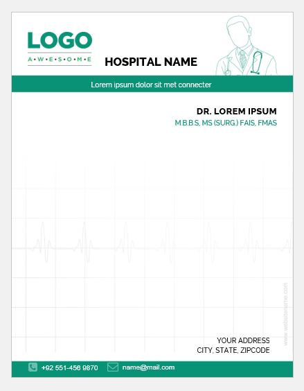 5 Doctor Prescription Pad Templates for MS Word Word  Excel Templates