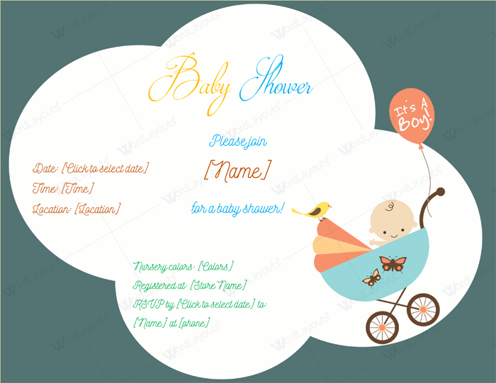 baby shower invitation layouts
