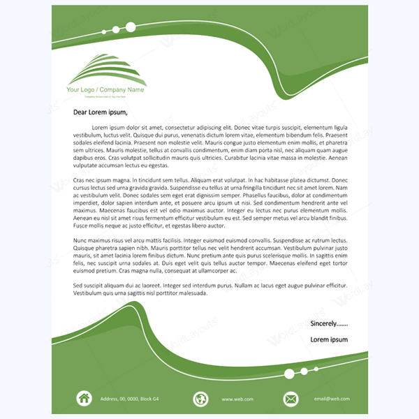 Email Letterhead Templates Free – Letterheads Templates Free Download