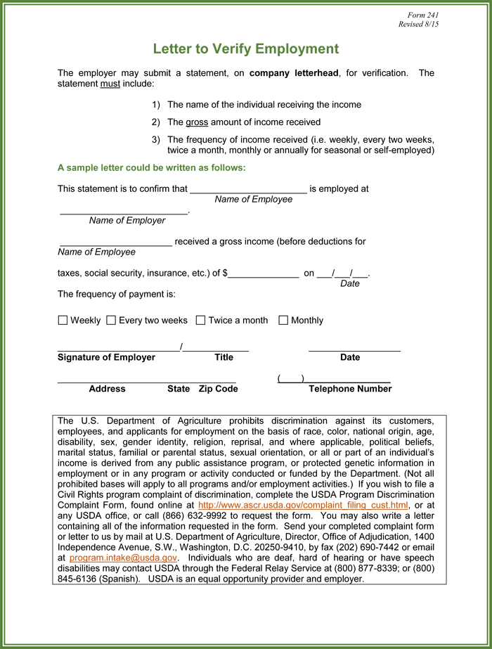 Employment Verification Letter Request – Employment Verification Request Form Template