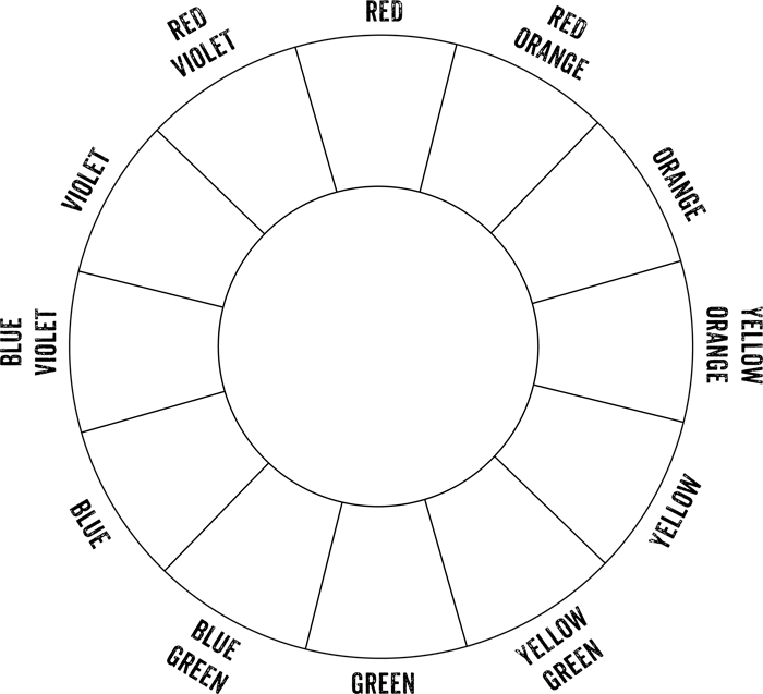 basic color wheel diagram in this diagram i have