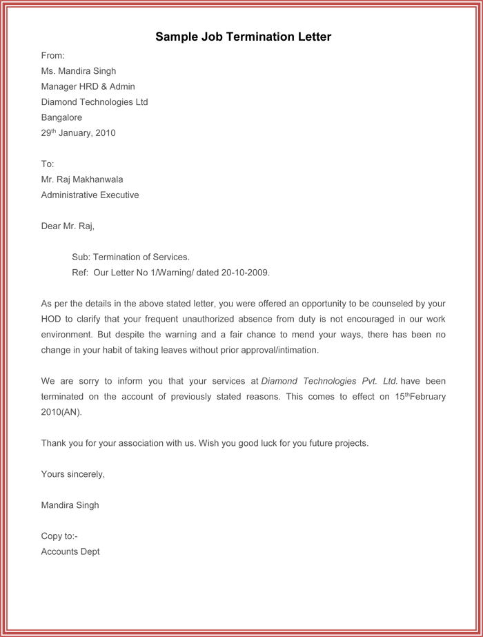 sample contract termination letter without cause sample termination letter without cause o resumebaking termination letter sample. Resume Example. Resume CV Cover Letter