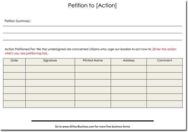 petition template