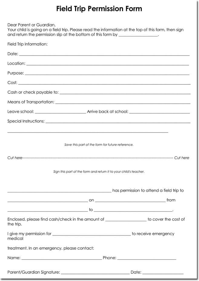 Permission Slip Template Word. 12 best permission slips images on ...