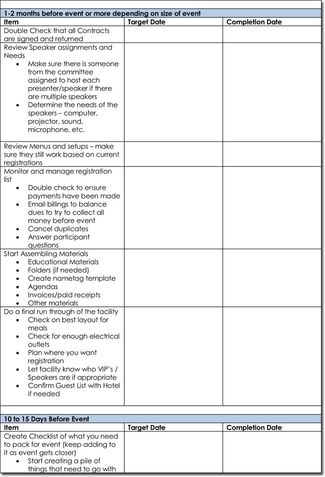 Event Itinerary Templates, Planners  Schedule Templates