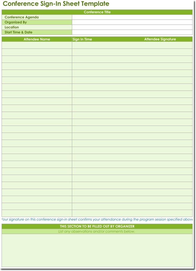 20+ Sign-in Sheet Templates for Visitors, Employees, Class, Patient etc