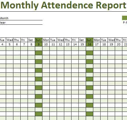 monthly attendance sheet template excel 43 Monthly attendance - attendance chart template
