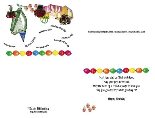birthday card template word - birthday greetings download free