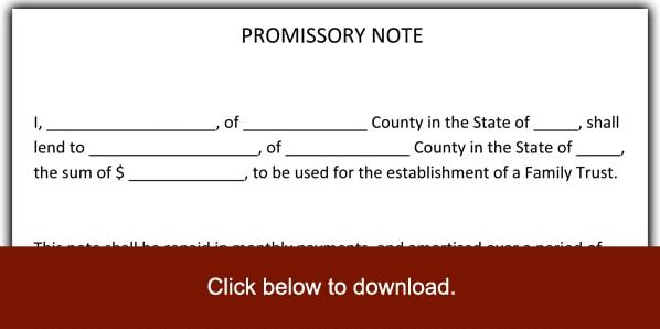 blank promissory note free - Yelommyphonecompany - Blank Promissory Notes