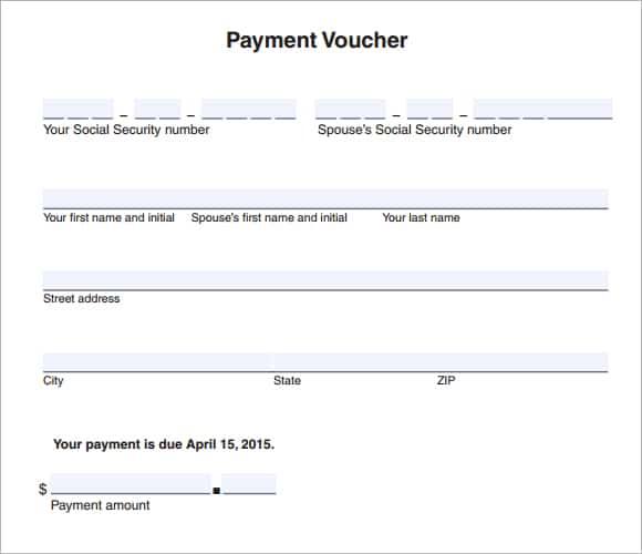 format for payment voucher - Pinarkubkireklamowe