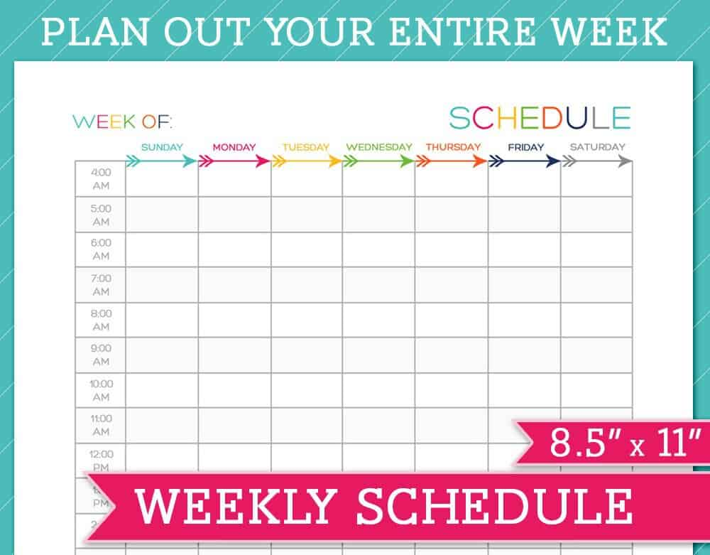 weekly schedule template - 28 images - weekly 24 hour calendar - free weekly schedule template