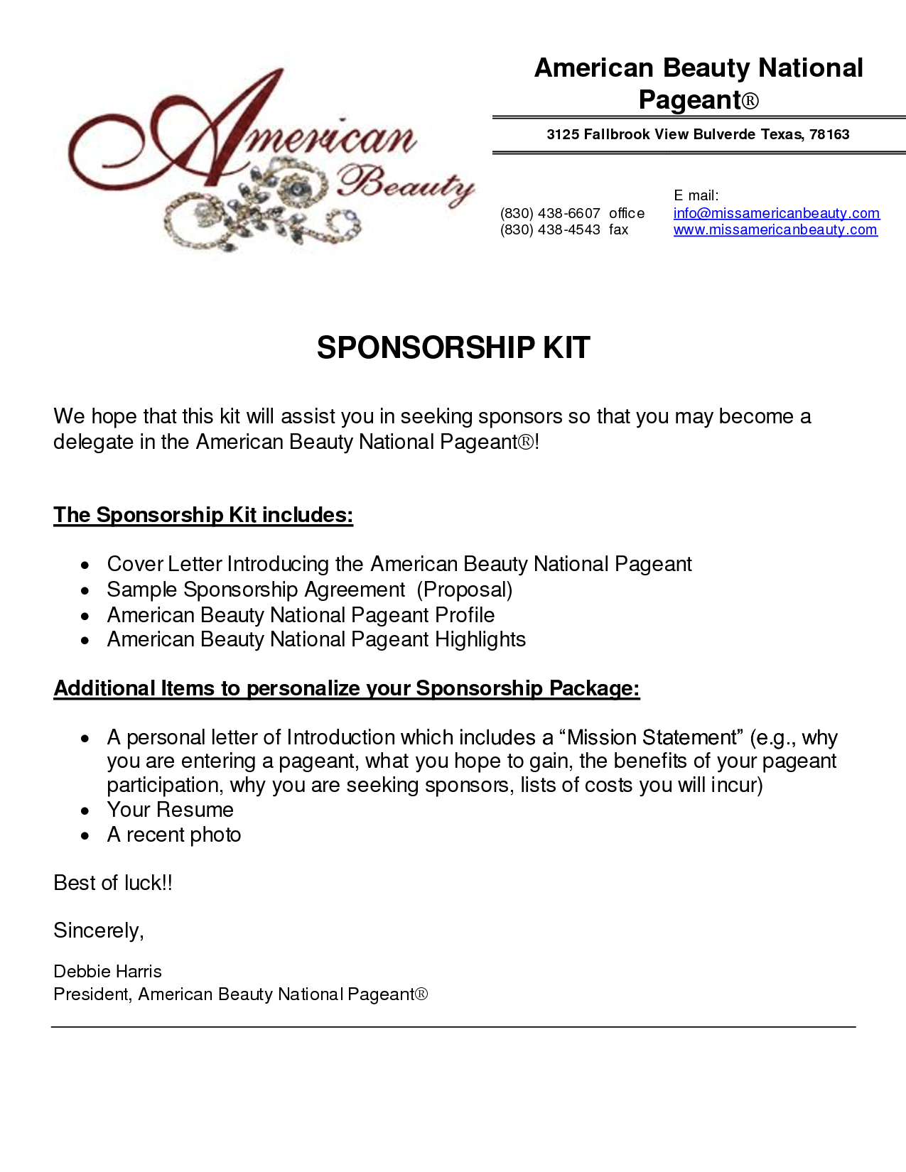 Sponsorship Letter Samples For An Event – Proposal Letter for Sponsorship Sample for Event