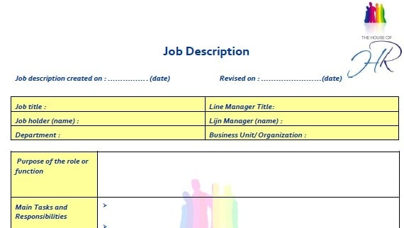4 Job Description Templates - Excel PDF Formats - job description templates