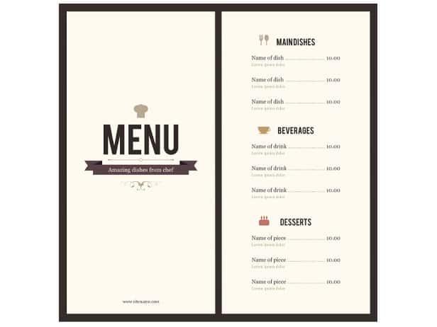 menu word template - 28 images - free menu templates 49 free word