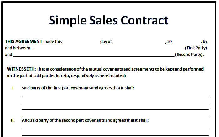 Sales Agreement Template  NodeCvresumePaasproviderCom