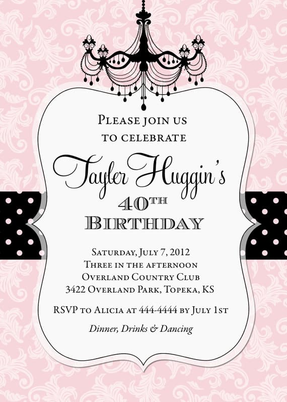 birthday party invitation templates word - invitations samples for birthday