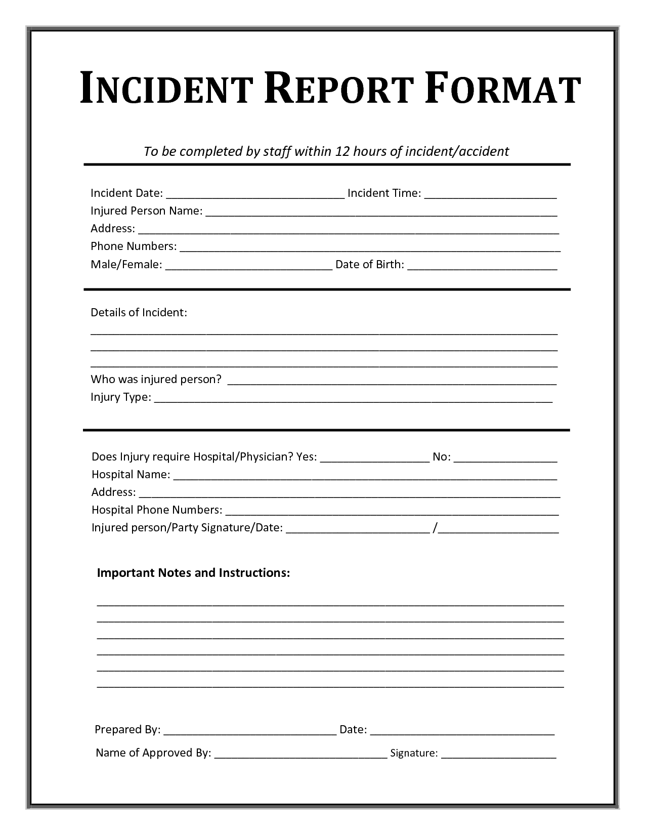Incident Report Format Sample Happy Birthday Image – Coupon Disclaimer Example