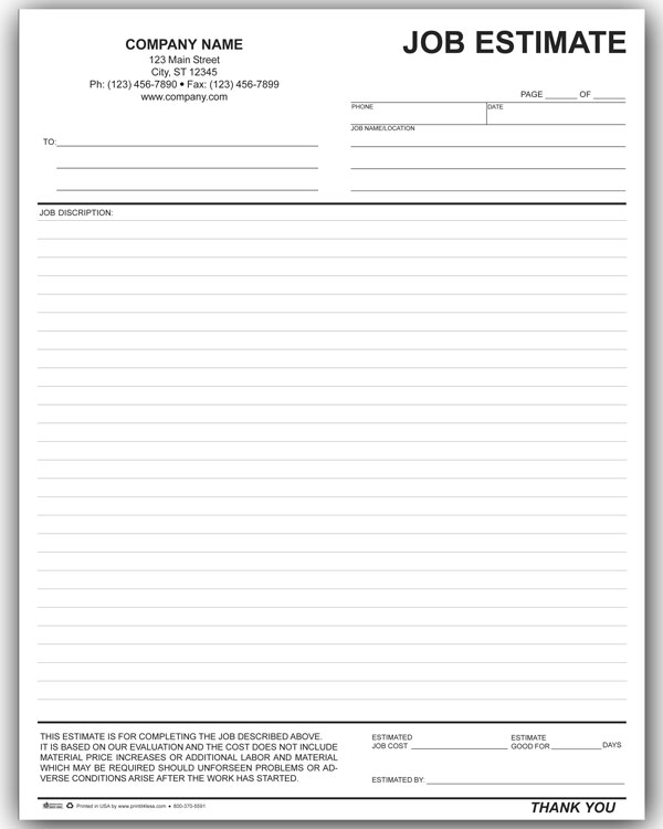 job bid sheet template - Onwebioinnovate