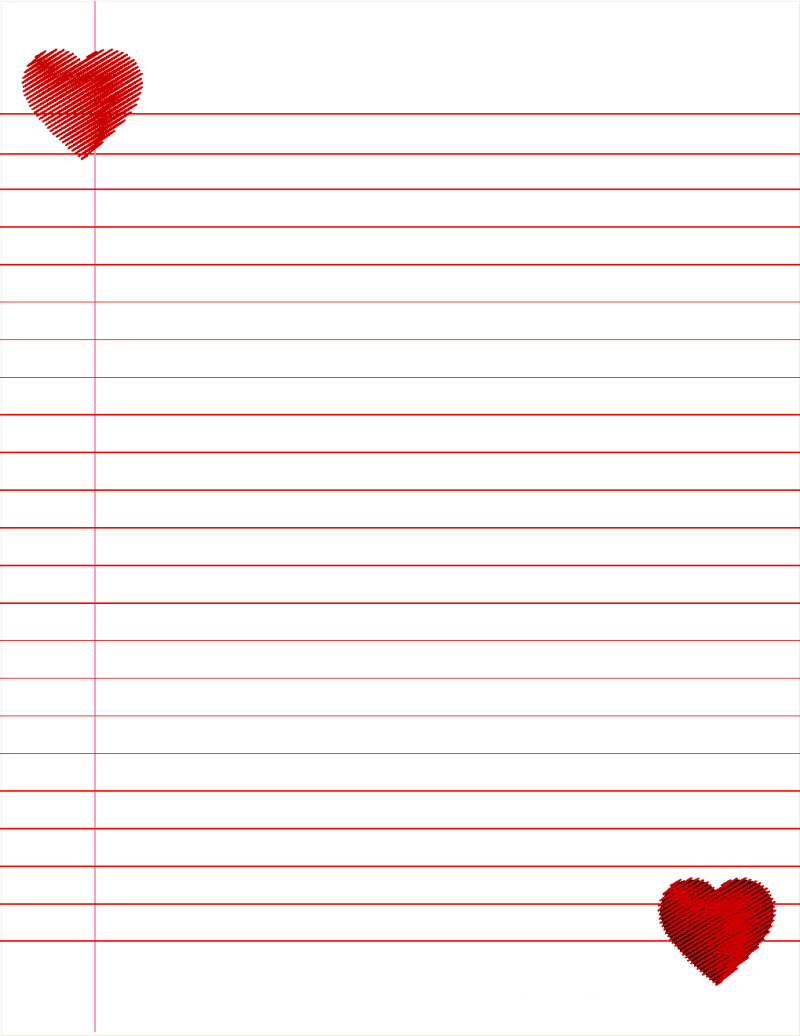Notebook Paper Template For Word format for birthday invitation – Template for Notebook Paper