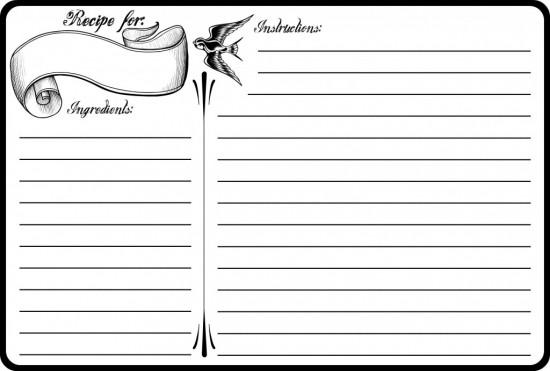 13 Recipe Card Templates - Excel PDF Formats - free recipe card templates for microsoft word