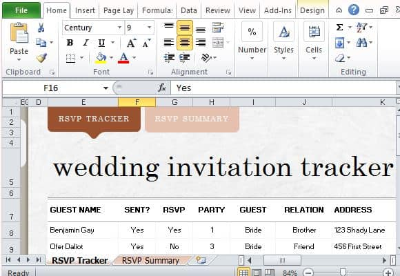 17 Wedding Guest List Templates - Excel PDF Formats - party guest list template
