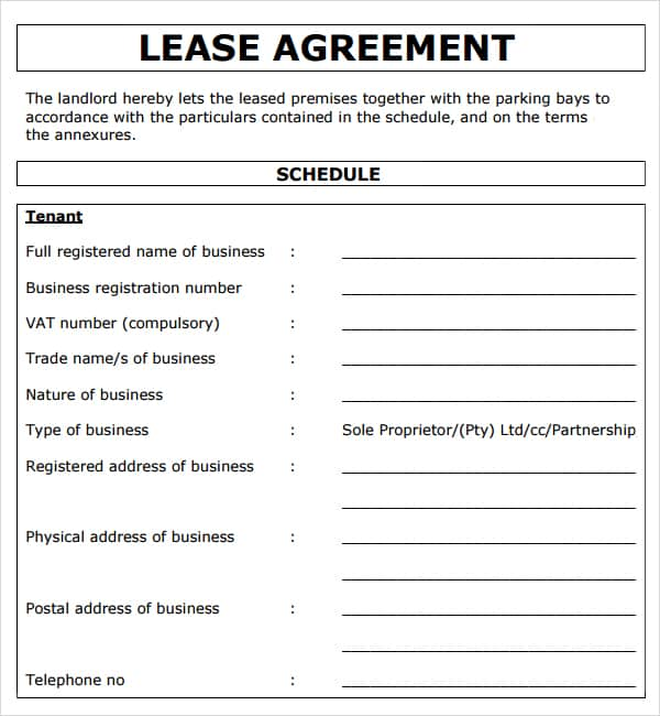 Rent Agreement Form Rental Agreement Form Doc Free Download 13+ - lease template word