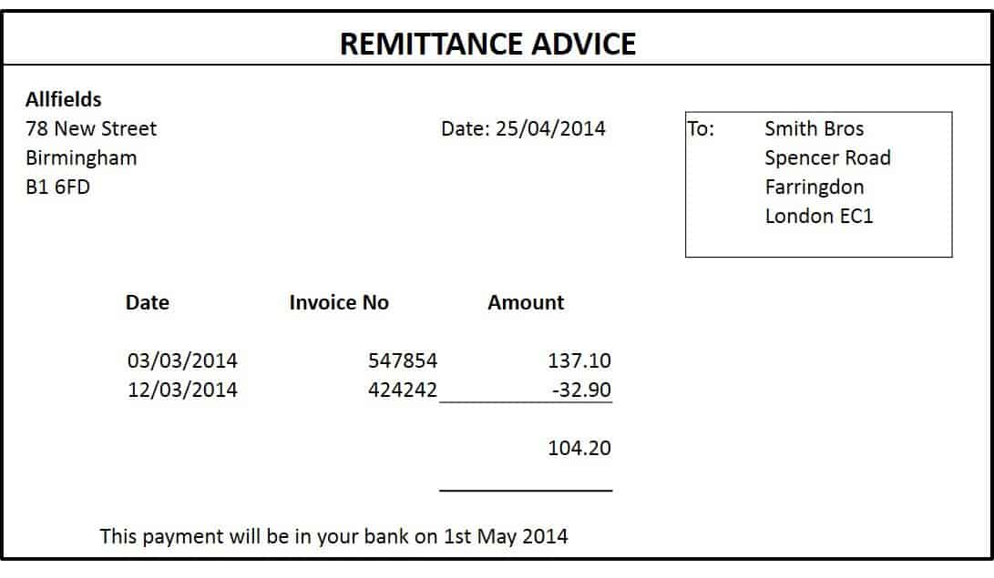 How to write a remittance letter