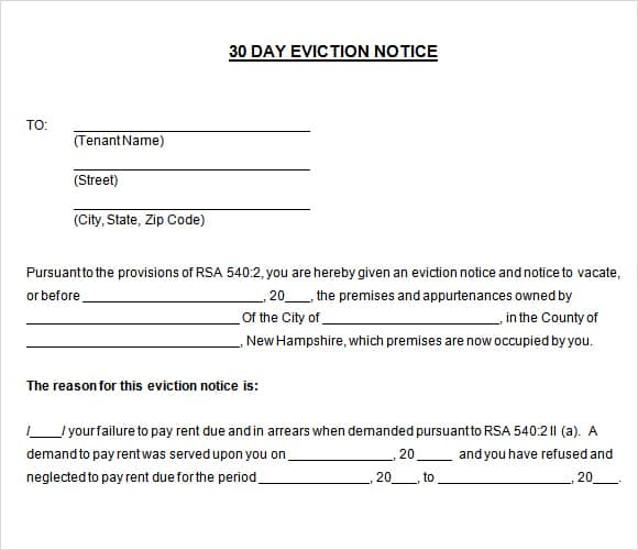 24 Free Eviction Notice Templates - Excel PDF Formats