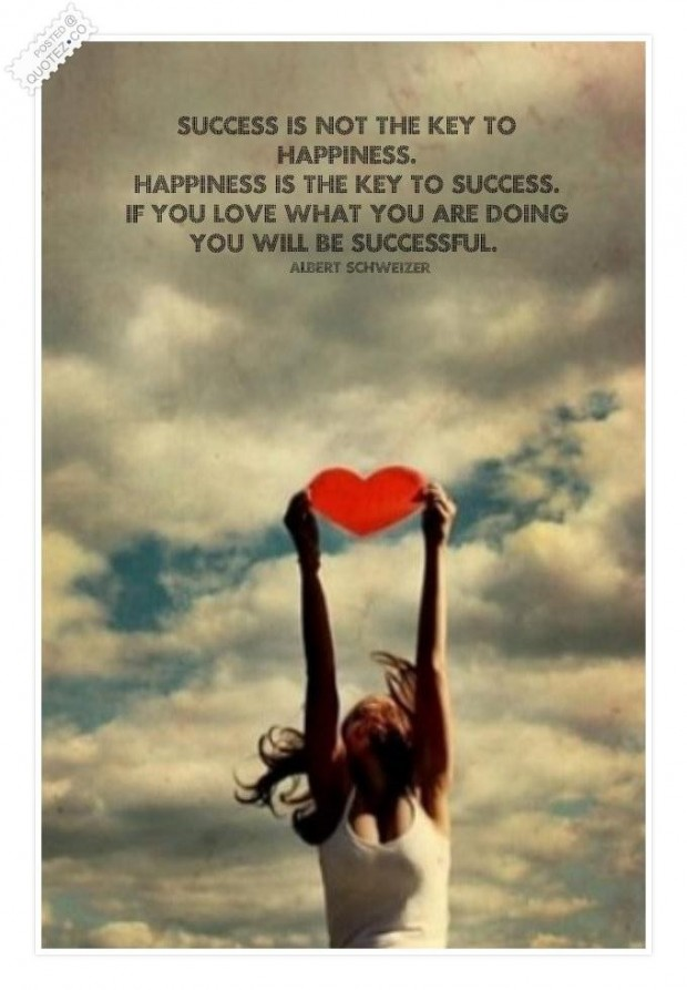 Happiness is the key to success quote - Collection Of Inspiring