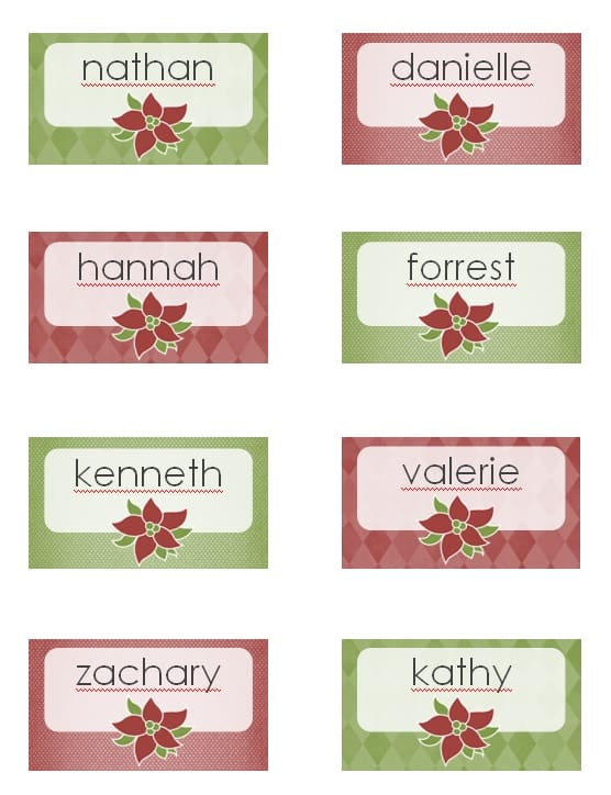 Holiday Place Card Template - Excel PDF Formats
