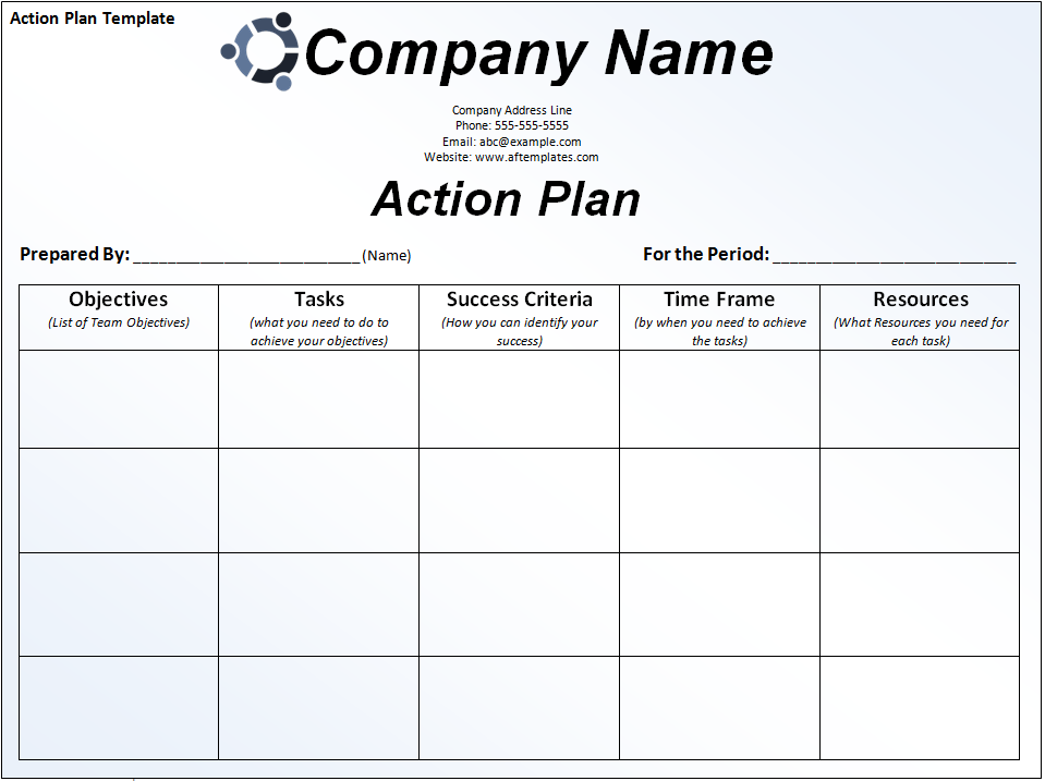 Strategic Plan Template Action – Strategic Plan Format Template