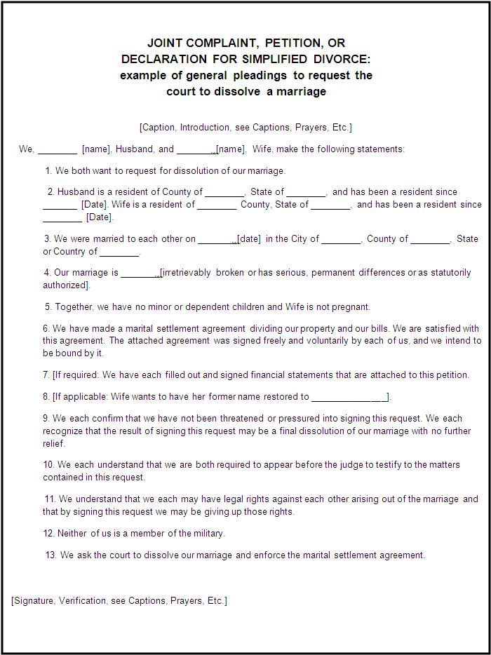 Divorce Forms 2+ Free Printable MS Word Templates