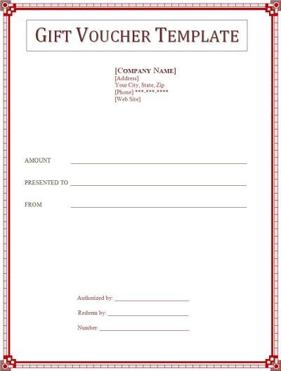 Certificate Gift Voucher Template Free