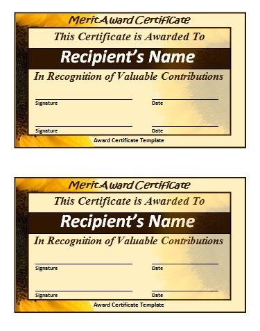 Merit Certificate Templates 5+ Free Printable MS Word Formats