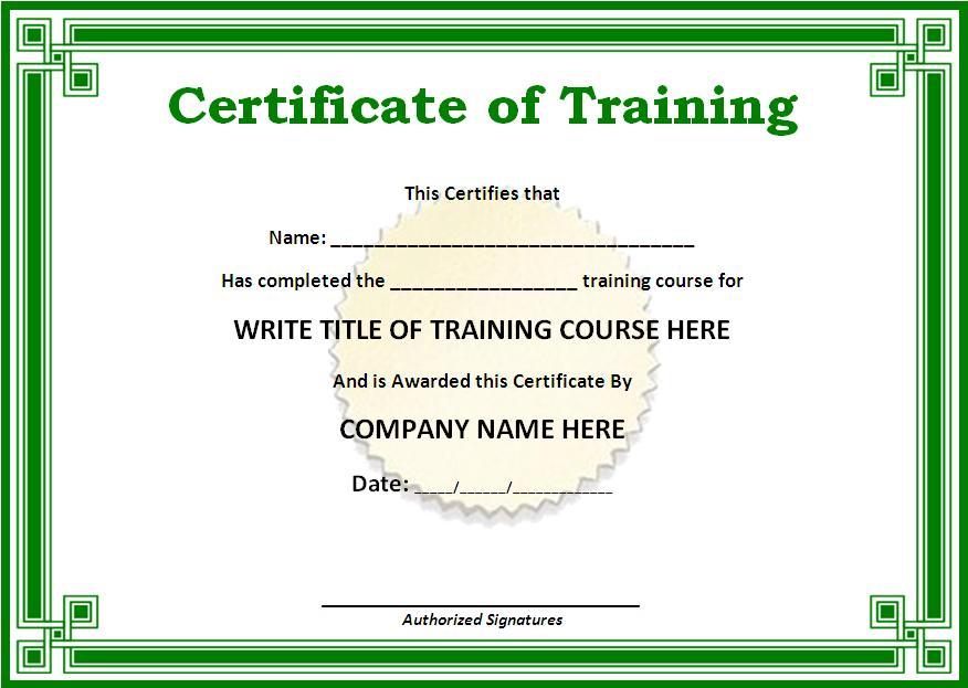 Certificate Template Doc