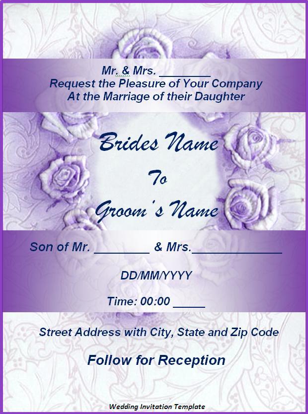 Wedding Invitation Templates 10+ Free Printable MS Word Formats