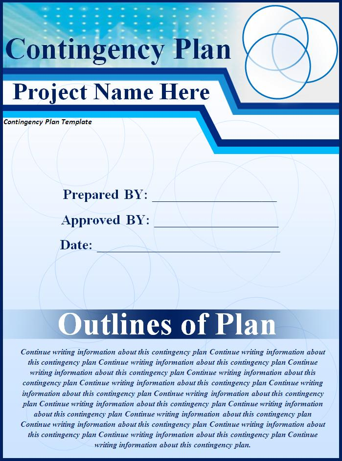 Contingency Plan Template Free Printable MS Word Format