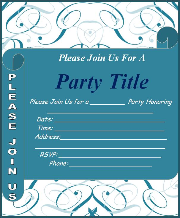 word templates for invitations free - Template - how to make a party invitation on microsoft word