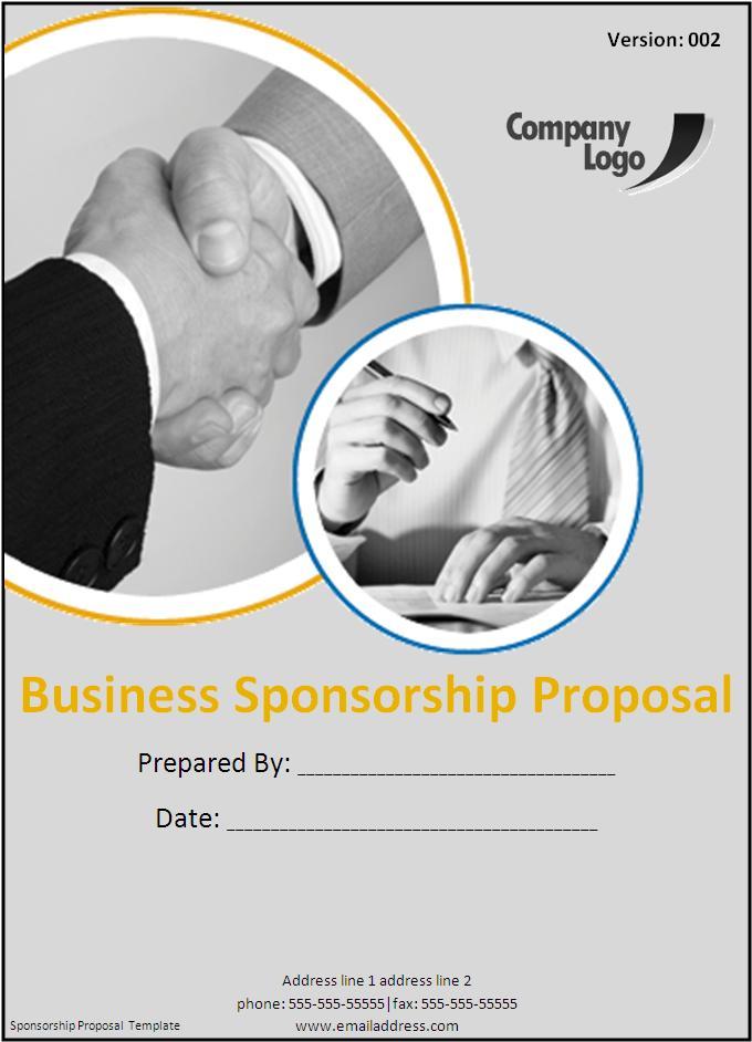 Sponsorship Proposal Template Free Word Templates - proposal template for sponsorship