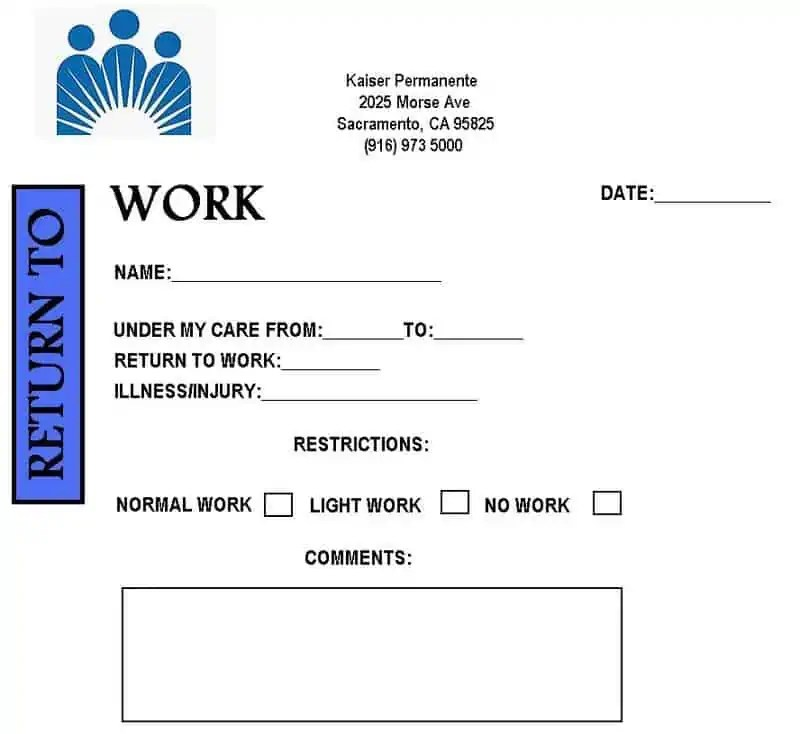 3 doctors note for work templates excel xlts for Free dr excuse template