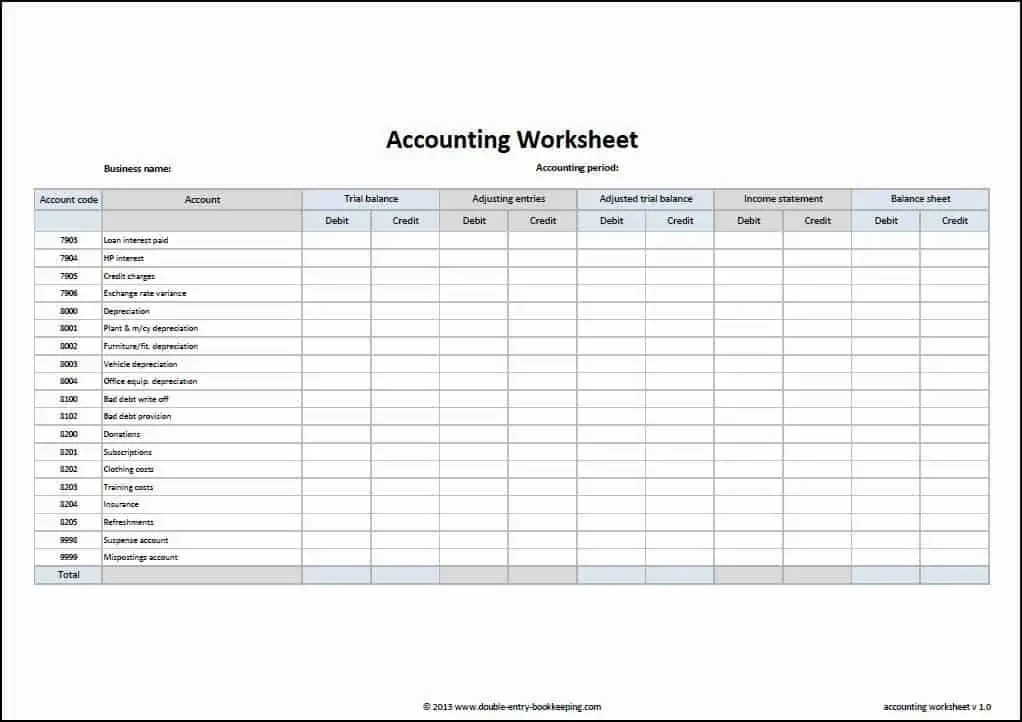 business ledger template excel free